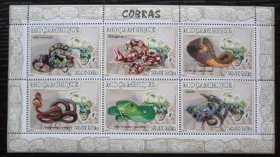 Mosambik 2007 Kobry Mi# 2998-3003 Kat 10€ 1935