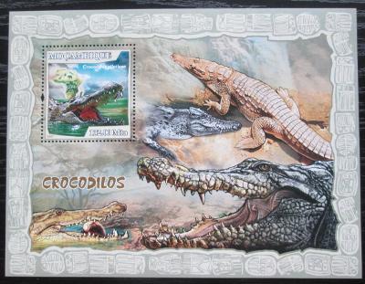 Mosambik 2007 Krokodýli Mi# Block 221 Kat 10€ 1936