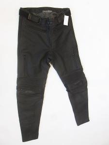 Kožené kalhoty zkrácená verze PROBIKER- vel. 25, pas: 88 cm