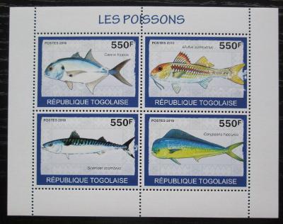 Togo 2010 Ryby Mi# 3414-17 Bogen Kat 8.50€ 1244