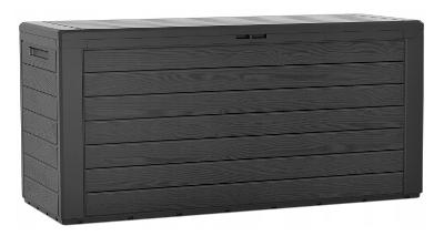 Balkonový zahradní úložný box bedna Woodebox antracit 280L 116x44x55cm