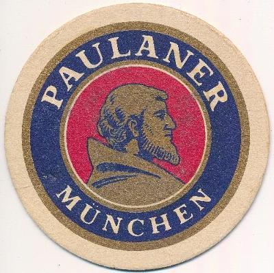 München, Paulaner, pivní tácek