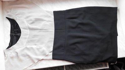 Nádherné černo béžové elegantní šatičky Vero Moda, vel. 40