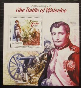 Sierra Leone 2015 Bitva u Waterloo,Napoleon Mi# Block 757 Kat 11€ 1272