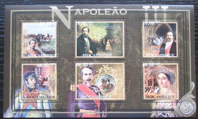 Mosambik 2012 Napoleon III. Mi# 5505-10 Kat 14€ 1273