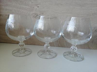 Broušené sklenice 3 ks