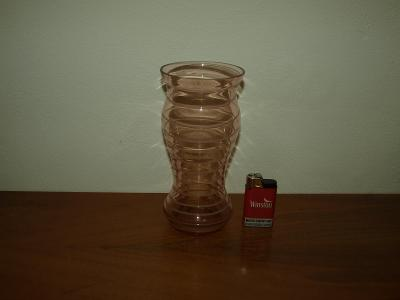 Zajímavá skleněná váza, TOČENÁ ZMRZLINA, TOP STAV