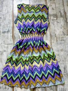Nové! Vzorované šaty Vel. M