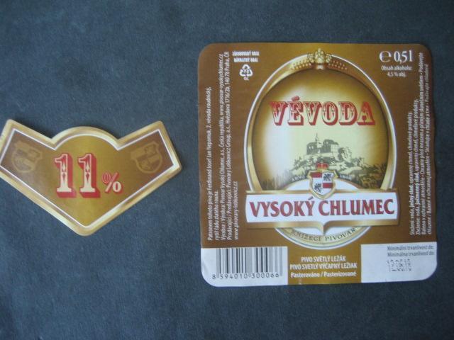 Pivní etikety z lahve Vévoda - Nápojový průmysl