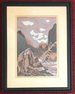Obraz barevná litografie