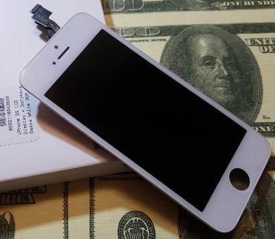 iPhone 5s : LCD Displej + Dotyková deska Bílý  ZÁRUKA !