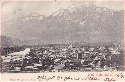Bad Reichenhall * část města, hory, Alpy, Stengel * Německo * Z121
