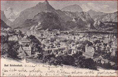 Bad Reichenhall * část města, hory, Alpy * Německo * Z1225