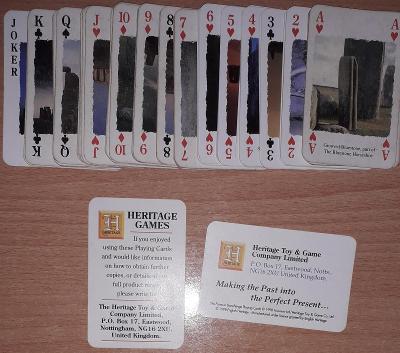 hrací karty Stonehenge chybí listy hrací