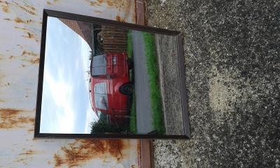 zrcadlo zabroušené v ozdobném  rámu 44x59 cm- VIZ FOTO