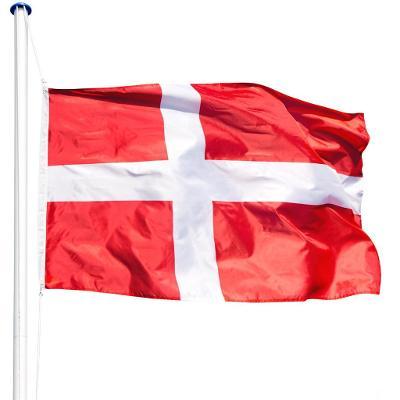 tectake 402853 hliníkový stožár s vlajkou - dánsko