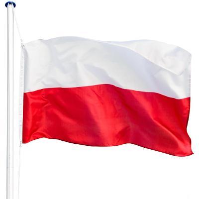 tectake 402854 hliníkový stožár s vlajkou - polsko