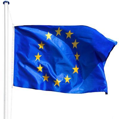 tectake 402859 hliníkový stožár s vlajkou - evropa