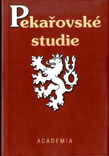 Eva Kantůrková (ed.): Pekařovské studie (1995) - Knihy