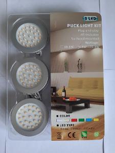 LED bodovka 2.8W denní bílá 3x vč. napájecího zdroje