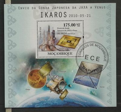 Mozambik 2010 - CTO aršík, vypuštění sondy Ikaros, vesmír a kosmos