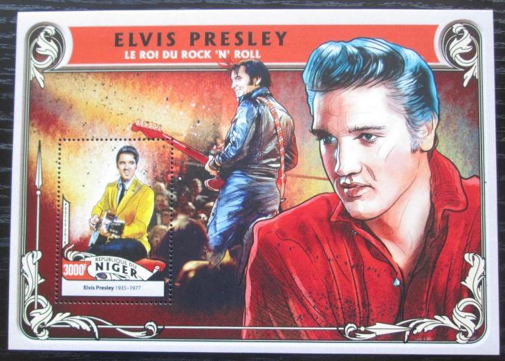 Niger 2016 Elvis Presley Mi# Block 568 Kat 12€ 1347 - Filatelie