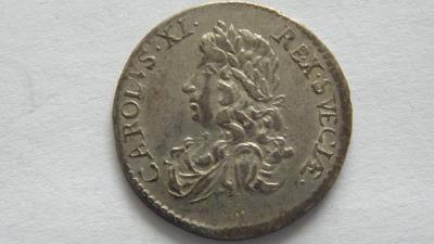 Švédsko 2 Mark 1671, Karel XI, Malá hlava