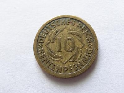 10 Rentenpfennig 1924 E