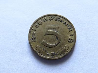 5 Reichspfennig 1938 E