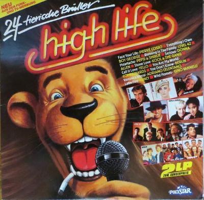 2LP- VA- HIGH LIFE HITS - 24 Tierische Brüller´1987