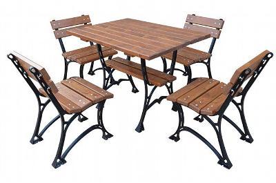 Dřevěný zahradní nábytek 1+4 Faktor 100 fiema