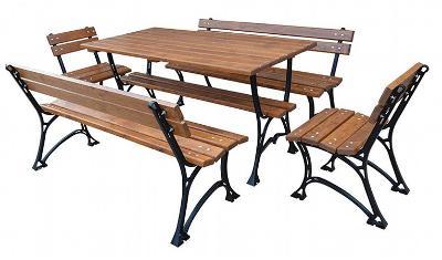 Dřevěný zahradní nábytek 1+2+2 Faktor plus 150 fiema