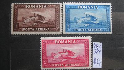 Rumunsko - čistá série známek katalogové číslo 336/338 Y
