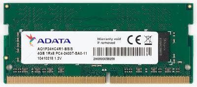ADATA SODIMM DDR4 4GB 2400MHz CL17 AO1P24HC4R1-BSIS