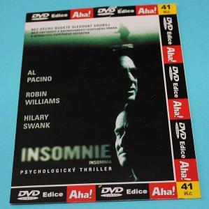 Insomnie (DVD), krimithriller, režie Christopher Nolan, stav-jako nové