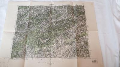 Stará vojenská mapa 1937-Polhora-Sihelné-Rabčice-Ostrý Vrch