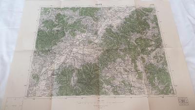 Stará vojenská mapa 1938-Trenčín-Opatovce-St.Hrozenkov-Podlužany