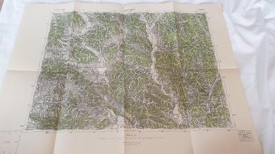 Stará vojenská mapa 1945-Giraltovce-Lužany-Stropkov-Lukačovce
