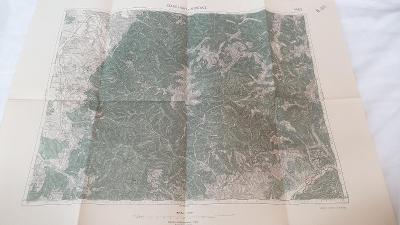Stará vojenská mapa 1930-Staré Hory-Mošovce-Slov.Lupča-Ppdkonice