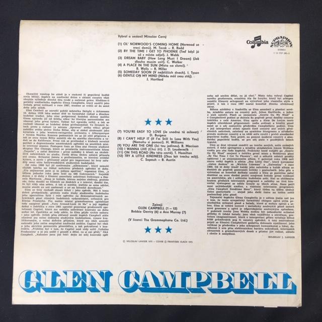 Glen Campbell – Glen Campbell - LP vinyl - Hudba