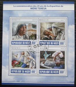 Niger 2017 Matka Tereza Mi# 5092-95 Kat 13€ 2080
