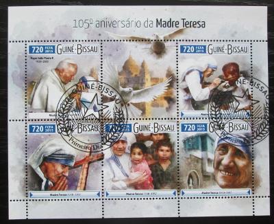 Guinea-Bissau 2015 Matka Tereza Mi# 8199-8203 Kat 13.50€ 2080