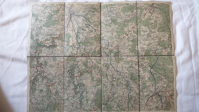 Stará vojenská mapa 1930-České Budějovice-Ledenice-N.Hrady-Trhové Svi