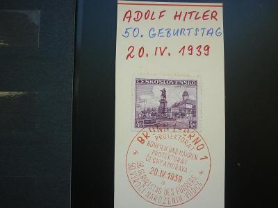 ADOLF HITLER 50 GEBURTSTAG 20 IV 1939 -!!!  1889-1939 REICH ŘÍŠE !!! R