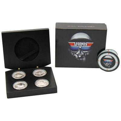 Sada stříbrných mincí LEGENDS OF THE AIR 4 X 1 OZ - 2011