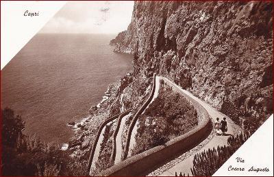 Capri * Via Cesare Augusta, silnice, pobřeží, ostrov * Itálie * Z1024