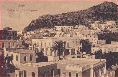 Capri * Hotel Pagano, část města, ostrov * Itálie * Z1840