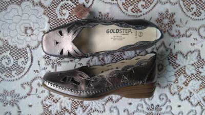 Luxusní nové kožené botičky, vel.40