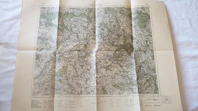 Stará vojenská mapa 1928-Josefov-Náchod-Dobruška-Opočno-Smiřice-Hronov