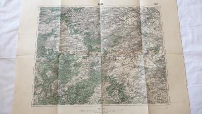 Stará vojenská mapa 1934-Kladno-Řeporyje-Rozdělov-Strašecí-Křivoklát